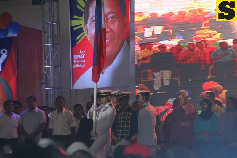 Philippine national anthem singing