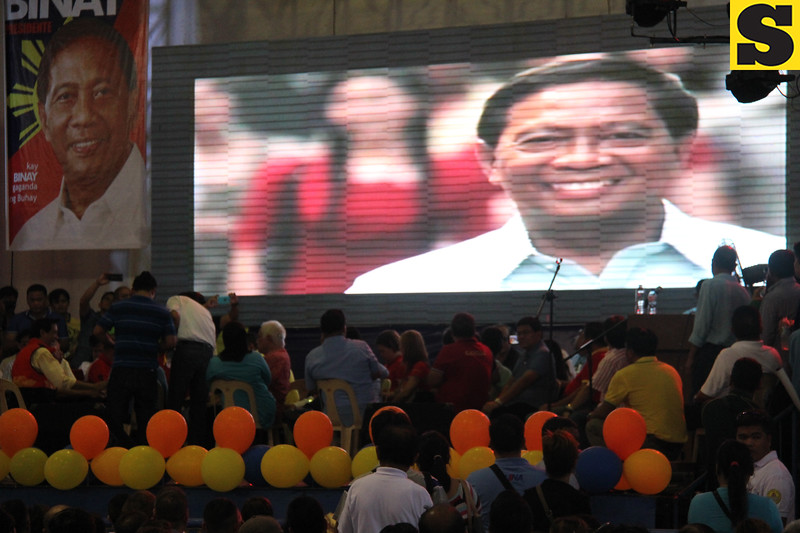 Audio-visual presentation of UNA party standardbearer Jejomar Binay