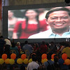 Audio-visual presentation of UNA party standardbearer Jejomar Binay