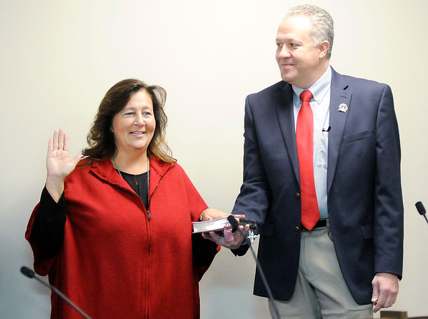 Don Knight   The Herald Bulletin<br /> Swearing-in ceremonies at the Madison County Government Center on Tuesday.