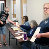 Voters check in and wait to enter the voting room at the Anderson Fire Department Training Center on Martin Luther King Jr. Blvd. Tuesday morning.