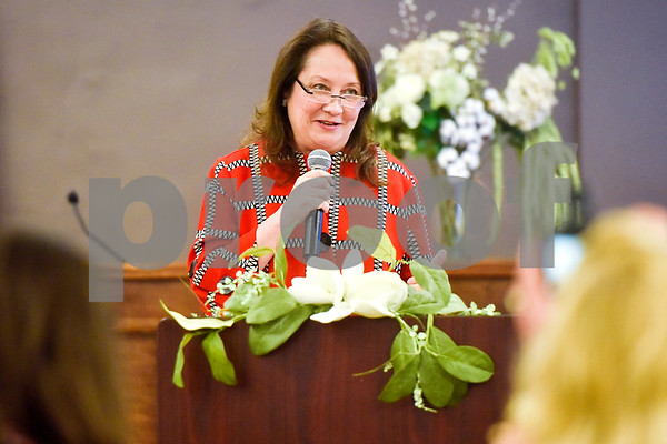 Texas First Lady Cecilia Abbott speaks at the Women Steeping in Politics event in Tyler, Texas, on Thursday, March 15, 2018. The event provided an opportunity for guests to hear about strong women building families and careers and supporting other women. (Chelsea Purgahn/Tyler Morning Telegraph)