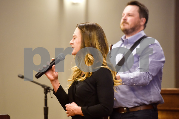 Musicians perform at the Women Steeping in Politics event in Tyler, Texas, on Thursday, March 15, 2018. The event provided an opportunity for guests to hear about strong women building families and careers and supporting other women. (Chelsea Purgahn/Tyler Morning Telegraph)