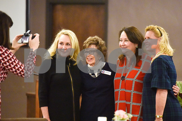 A woman takes a picture of Kathy Gohmert, married to U.S. Rep. Louie Gohmert, Pat Self, Texas First Lady Cecilia Abbott and Heather Stoner at the Women Steeping in Politics event in Tyler, Texas, on Thursday, March 15, 2018. The event provided an opportunity for guests to hear about strong women building families and careers and supporting other women. (Chelsea Purgahn/Tyler Morning Telegraph)