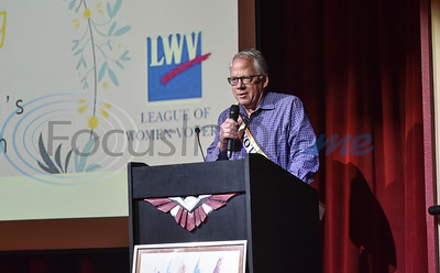 Don Warren gives a proclamation during the 99 Years and Counting: Voter Equality event on Saturday, March 9. The event was held a Liberty Hall and celebrated National Women's History Month. (Jessica T. Payne/Tyler Morning Telegraph)