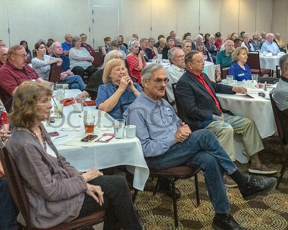 Attendees at the Grassroots America PAC listen to remarks by Rep. Louie Gohmert, representing the 1st Congressional District of Texas, held at the Holiday Inn Tyler Convention Center on April 23, 2019.  (Rick Flack/Freelance)