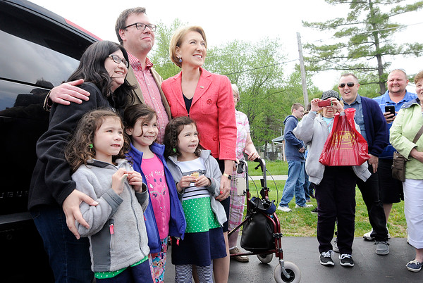 Don Knight   The Herald Bulletin<br /> Carly Fiorina and Heidi Cruz visited Good's Candy Shop in Anderson on Friday.