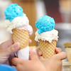 "Don Knight | The Herald Bulletin<br /> Good's Candy Shop sold the ""Liberty Cone"" for Carly Fiorina and Heidi Cruz's visit on Friday. The waffle cone was filled with strawberry, vanilla and blue moon ice cream."