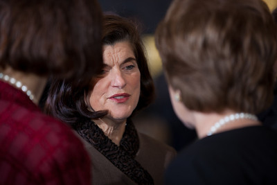 Luci Baines Johnson Turpin talking to Kathleen Kennedy Townsend