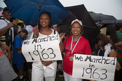 Dianna Watson Ezell and Sarah J. Davison attended the march 50 years ago with the NAACP youth council in North Little Rock, Ark. as 16 and 15 year olds.
