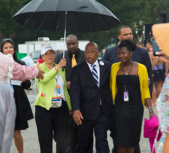 Rep. John Lewis arrives