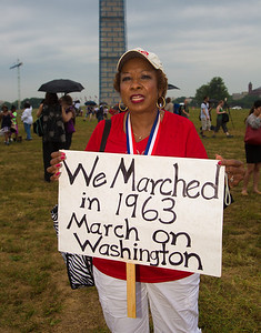 Sarah J. Davison attended the march 50 years ago as a 15-year-old president of NAACP youth council in North Little Rock, Ark.