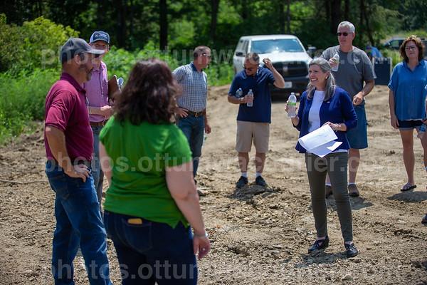 7-24 Sen. Joni Ernst visits reclaimed coal mine