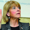 MA Attorney General and Democatic candidate for governor Martha Coakley was the guest speaker at the North Central Massachusetts Camber of Commerce Good Morning Breakfast on Friday morning. SENTINEL & ENTERPRISE/JOHN LOVE