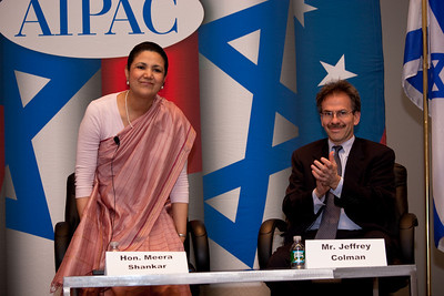 Meera Shankar, India Ambassador to the US and Jeffrey Colman, Deputy Director, Policy and Government Affairs, AIPAC