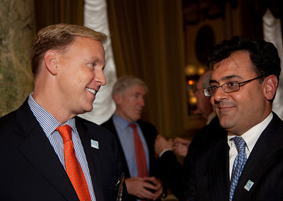 (L) David Pritchard, Microsoft Sr. Director- Chief of Staff (R) Ambassador Karan K. Bhatia - GE Vice President, Senior Councel International Law & Policy