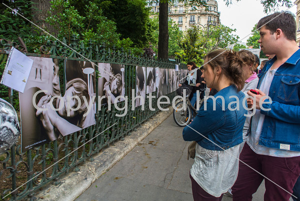 Paris, France, LGBT Groups Demonstration  at June 26 Demonstration in Support of Gay Photographer (Olivier Ciappa) who's work was attacked outside 3rd District City Hall