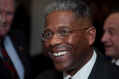 "Congressman Allen West (R-FL) speaks to conservative activists in what organizers called the ""first Tea Party town hall"" on Tuesday, February 8, 2011 at the National Press Club in Washington DC. The event was sponsored by Tea Party Express and Tea Party HD. (Photo by Jeff Malet)"