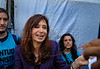 "Argentina's president Cristina Kirchner during the human rights ""Azucena Villaflor"" ceremony award in the ESMA, Escuela de Mecanica de la Armada, a argentinian navy military center where more 5000 disappear, Buenos Aires, Argentina, December 18, 2008. (Austral Foto/Renzo Gostoli)"