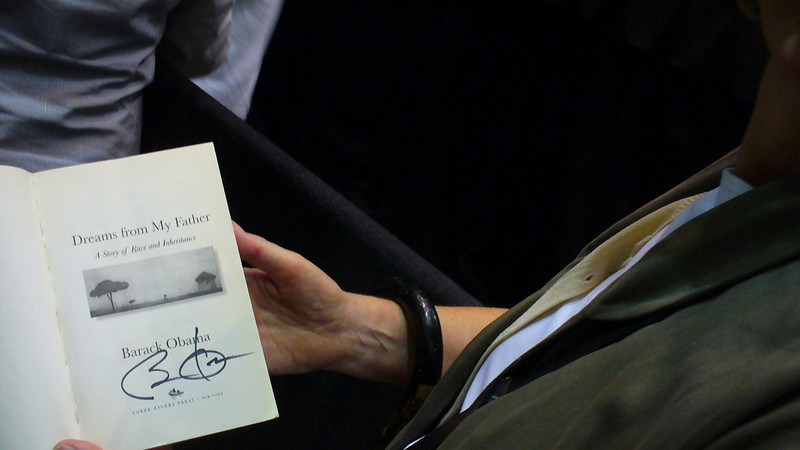 """Barack Obama's signature on Alison's copy of """"Dreams From My Father"""""""