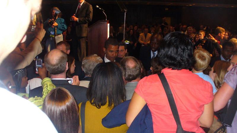 Barack Obama shaking Alison's hand!