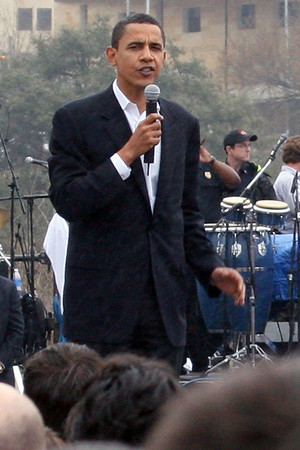 Barack Obama rally for President, 2008