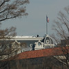 """Snipers on the roof (or at least security... I guess snipers probably wouldn't stand around a chat like that.)  Either way, I told my sons that they were """"looking for kids that were acting up.  So stop screwing around or they'll get you!"""""""