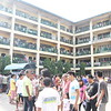 'Last minute voters' flock to their designated precincts to catch the 3p.m. cut-off of the #barangayelections2013 at the City Central School #Cebu.