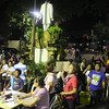 People waiting for the proclamation of barangay elections 2013 winners in Barangay Guadalupe, Cebu City