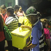 Ballot boxes from polling precincts
