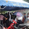 CEBU. The tent of those who voted yes for the split of Barangay Guadalupe in Cebu City. A plebiscite was held Saturday, July 28, 2012, at the Guadalupe Elementary School. (Laureen Mondonedo/Sunnex)