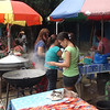 CEBU. Vendors took advantage of the plebiscite Saturday, July 28, 2012, that gathered thousands of residents from Barangay Guadalupe. These vendors do their business outside the Guadalupe Elementary School. (Laureen Mondonedo/Sunnex)