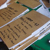 CEBU. Folders containing names of residents in Barangay Guadalupe who are voting yes to splitting the village into two. (Laureen Mondonedo/Sunnex)