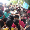 CEBU. Voters trying to get their precinct numbers during a plebiscite held at the Guadalupe Elementary School in Cebu City Saturday, July 28, 2012. (Laureen Mondonedo/Sunnex)