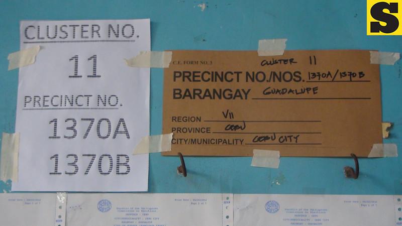 CEBU. Precinct of former Cebu south district congressman Antonio Cuenco. (Laureen Mondonedo/Sunnex)
