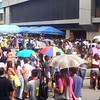 People from Cebu north district are lining up outside the Comelec Office for the capturing process