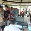 People lining up for the voter registration held at Plaza Independencia and Commission on Elections (Comelec) office in Cebu City. (Photo by Karen Tabla/Sunnex)