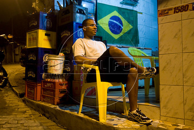 Waldinei Medina, 29, in the Chapeu Mangueira slum of Rio de Janeiro, Brazil, Sept. 30, 2010, where Federal Deputy candidate Benedita da Silva is also from. Benedita, as she is known, was the first afro-Brazilian senator and the first female and black governor of the state of Rio de Janeiro and later Social Action Secretary in President Lula's government, where she was accused of using public resources to finance a personal trip. She resigned the post in 2004.(Australfoto/Douglas Engle)