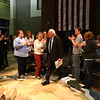 Ottumwa, IA December 30, 2015--Presidential candidate Bernie Sanders addresses the crowd during a campaign stop at the Ottumwa Bridge View Center. Photo by Dan L. Vander Beek/Ottumwa Courier