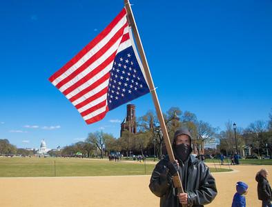 Upside-Down Flag Protest