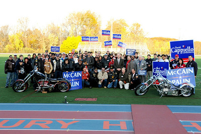Bike, Cruiser & Veterans Rally for McCain/Palin, November 2, 2008