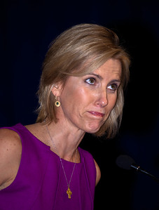 "Laura Ingraham, radio host of ""The Laura Ingraham Show"", speaks at the Values Voter Summit on Friday, October 7, 2011 in Washington DC."