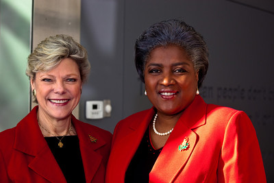 Cokie Roberts and Donna Brazile
