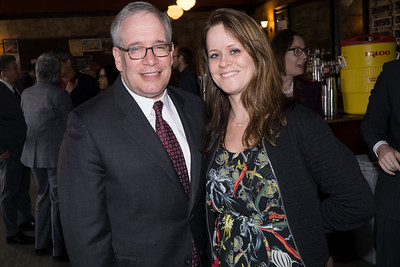 The NYC Comptroller, Scott Stringer, with Melissa Corbett who joined folks at the Friends Of Peace table.