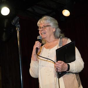 Ellen Raider speaks to the guests.