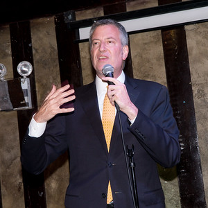 His honor, Mayor Bill di Blasio, made an appearance at the cocktail hour and pledged to continue fighting for a progressive agenda during his next term.