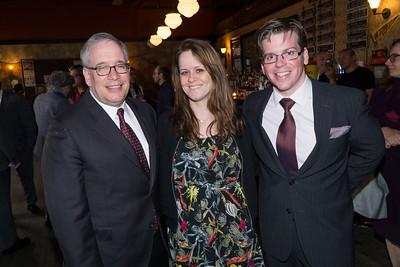 Scott Stringer, Melissa Corbett and Bobby Carroll pose for the camera.