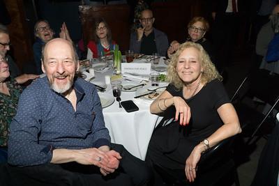 Sam Koprak and Stacey P Weinstein—enjoying the speakers at this year's CBID dinner.
