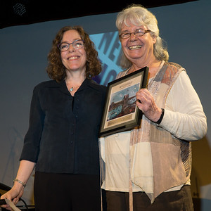 The award given to Ellen Raider for her commitment and long-standing activism. Presented by Joy Romanski.