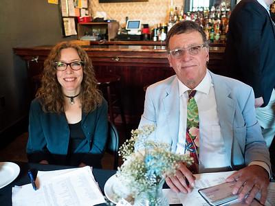 Joy Romanski and Marty Bernstein, Club Treasurer.
